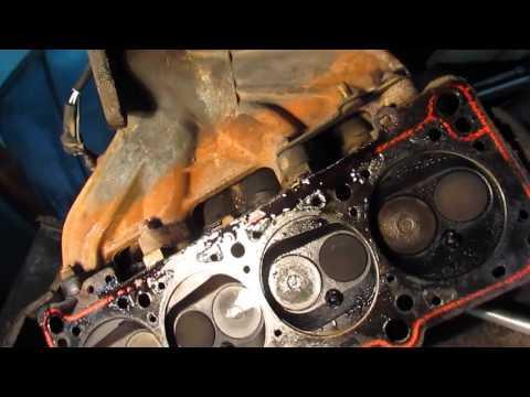 Audi 80 .Ауди 80 Б 4 замена прокладки  головки блока