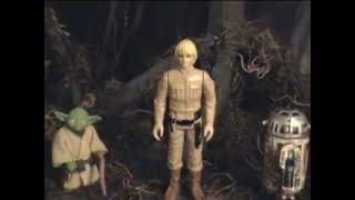 getlinkyoutube.com-YODA - FEEL THE FORCE - DAGOBAH CUSTOM DIORAMA STAR WARS ACTION FIGURES LUKE SKYWALKER R2-D2 REMIX