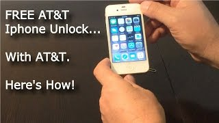 getlinkyoutube.com-AT&T Free IPhone 6 Factory Unlock by AT&T - ABSOLUTELY FREE!!!  How to on Iphone 4 5 6 plus 6s 7