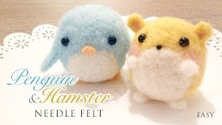 getlinkyoutube.com-How to Needlefelt Penguin & Hamster - Kawaii ASMR Craft Tutorial