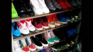 Diamond platnumz shoes and clothes room