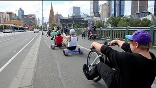 getlinkyoutube.com-Urban Drift Triking - SlideMelbourne Bull Run