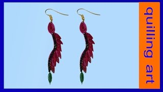getlinkyoutube.com-quilled earrings latest designs