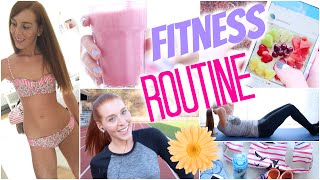 getlinkyoutube.com-FITNESS ROUTINE 2015: DIY MILCHSHAKE, WHATS IN MY BAG, APPS, OUTFITS, ÜBUNGEN | LaurenCocoXO
