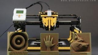 "getlinkyoutube.com-LEGO 3D Milling Machine - ""3D Printer"""