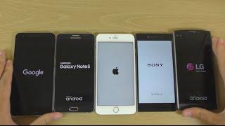 getlinkyoutube.com-Benchmark Speed Test - Z5 Premium VS iPhone 6S+ VS Note 5 VS LG V10 VS Nexus 6P!