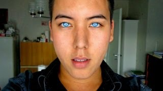 getlinkyoutube.com-REVIEW: BEAUTIFUL blue green aqua contacts on brown eyes