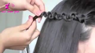 getlinkyoutube.com-تسريحة شعر سهلة و سريعة للمدرسة