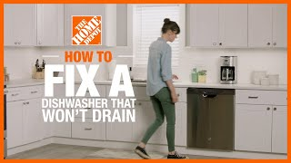 A video showing how to fix a dishwasher that isn't draining.
