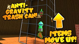 Minecraft Redstone | ANTI GRAVITY TRASH CAN! | Items FLOAT IN AIR To Lava! (Minecraft Redstone)