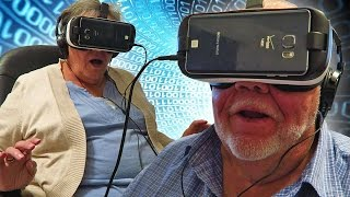 getlinkyoutube.com-Grandparents React to VR Virtual Reality Oculus for the First Time