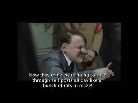 Hitler upset about the changes to Reddit's /r/atheism