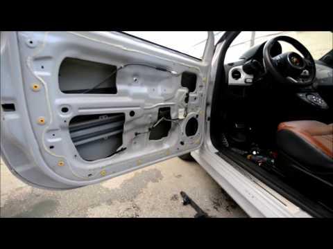 Fiat 500/595/696  разборка /снятие двери и ремонт PDR под усилителем