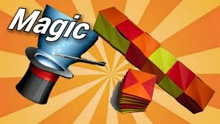 How to make a paper magic spiral cube (origami)
