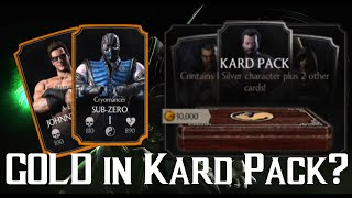 getlinkyoutube.com-Can you get a GOLD in the KARD PACK? | Mortal Kombat X | iOS, Android