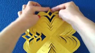 getlinkyoutube.com-DIY. Объемная 3D снежинка из бумаги. 3D Paper Snowflake