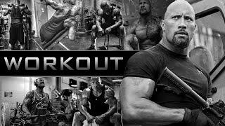 getlinkyoutube.com-Dwayne The Rock Johnson | Workout Video Training 2016