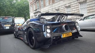 getlinkyoutube.com-Pagani Zonda 760 VR roadster REVS and AMAZING SOUNDS in London!!