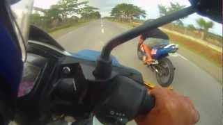 getlinkyoutube.com-Yamaha Crypton X vs Suzuki Belang
