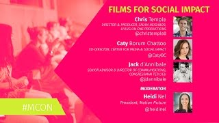 MCON 2016 // Films for Social Impact Panel