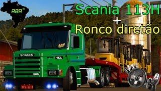 getlinkyoutube.com-Euro Truck Simulator 2 - Scania 113H + Ronco diretão - Mapa RBR - Logitech G27