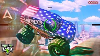 getlinkyoutube.com-GTA 5 MONSTER TRUCKS vs SNIPERS - Liberator Showdown with The Sniping King!! (GTA 5 Funny Moments)