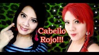 getlinkyoutube.com-Cómo Cambie de Cabello Negro Teñido a Rojo Intenso!!!  Rihanna Red  Bleaching