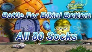 getlinkyoutube.com-SpongeBob Battle For Bikini Bottom All 80 Socks Locations