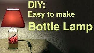 getlinkyoutube.com-DIY: Easy to make Bottle Lamp