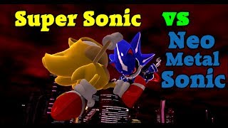 getlinkyoutube.com-Sonic Generations (PC) - Super Sonic vs Neo Metal Sonic