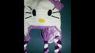 getlinkyoutube.com-Gorro Hello Kitty a Crochet