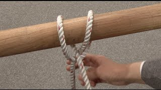 getlinkyoutube.com-ロープ 結び方 巻き結び   (ロープワーク講座)