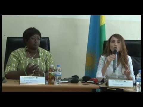 Dr. Agnes Binagwaho (MoH) & Tzameret Fuerst - Press Conference in Rwanda