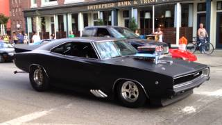 getlinkyoutube.com-1968 Dodge Charger - American Muscle Car (Pro Street)