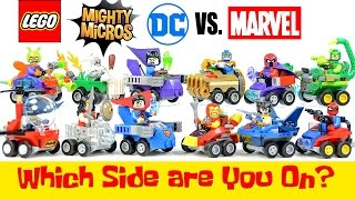 getlinkyoutube.com-LEGO® Marvel v DC Comics Super Heroes Mighty Micros w/ Batman Iron Man Superman & Spider-man