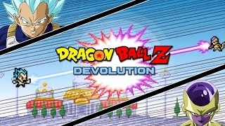getlinkyoutube.com-Dragon Ball Z Devolution: Super Saiyan God Super Saiyan Vegeta vs. Golden Frieza!