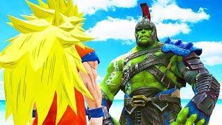 GOKU VS GLADIATOR HULK (Thor Ragnarok) - Epic Battle