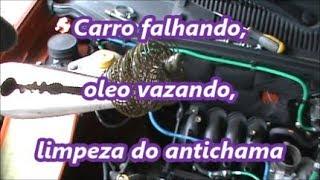 getlinkyoutube.com-Carro falhando, óleo vazando, limpeza do filtro Antichama