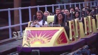 getlinkyoutube.com-Derek Hough and his girlfriend Hayley Erbert enjoy themselves at Disneyland in Anaheim, CA.