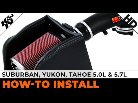 Suburban, Yukon, Tahoe 5.0L & 5.7L (#57-3013-2) Air Intake Installation