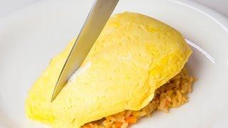 getlinkyoutube.com-ふわふわオムライスが簡単に成功する作り方 (Simple omelette technique)