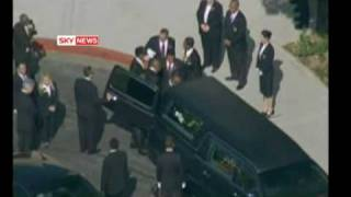 getlinkyoutube.com-Michael Jackson Farewell Coffin Leaves Funeral For Forest Lawn Cemetary