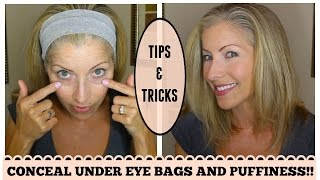 getlinkyoutube.com-Look Younger! How to Conceal Under Eye Bags and Discoloration for Mature Skin
