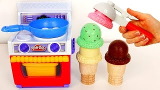 getlinkyoutube.com-Play Doh Food Kitchen Playset!! Ice Cream Cones