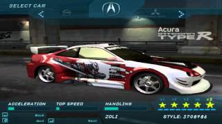 getlinkyoutube.com-Need For Speed Underground 1 - All Official & Bonus Cars