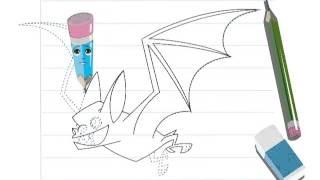 getlinkyoutube.com-Vídeo de como desenhar um MORCEGO (Hellokids)