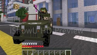 getlinkyoutube.com-Minecraft Flan's Mod Battles 8: Car chases