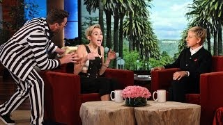 getlinkyoutube.com-Ellen Scares Miley Cyrus