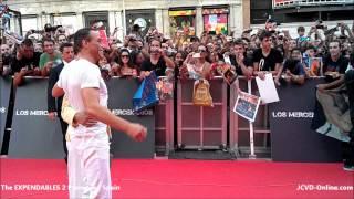 getlinkyoutube.com-Jean-Claude Van Damme - The Expendables 2 Premiere | Spain