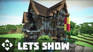 getlinkyoutube.com-Mittelalter Haus / Villa bauen + Download ★ Minecraft Lets Show